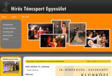 Hírös Táncsport Egyesület - képernyőkép