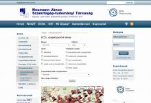 Neumann János Számítógép-tudományi Társaság képernyőkép