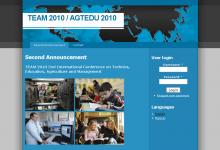 TEAM 2010 / AGTEDU 2010 konferencia - képernyőkép